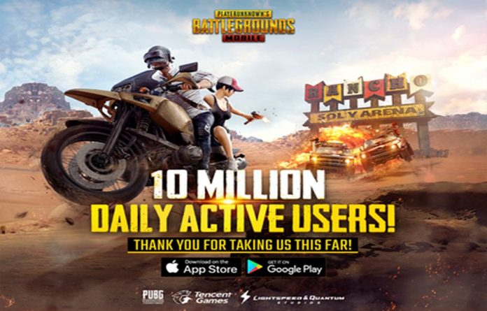 PUBOG Mobile Reaches 10 Million Daily Active Users Milestone
